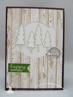 Stampin Up :Banner Greetings, Framelits Etikett-Kunst, Hardwood, Life in the Forest