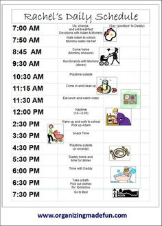 toddler schedule template