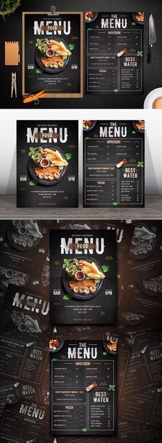 Modern Food Menu Template PSD