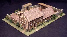 Half-timbered manor house