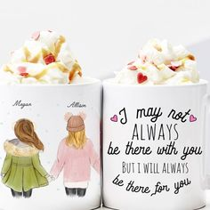 Gift ideas for girlfriend / This mug is the perfect presents for friends, She'll obsess over this cute surprise. Best Christmas Gifts For friends Personalised Gifts For Your Best Friend, Diy Gifts For Friends, Diy Gifts For Boyfriend, Personalized Gifts, Present Ideas For Girlfriend, Bestie Gifts, Custom Gifts, Friends Coffee Mug, Friend Mugs