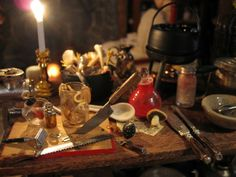 miniature witch houses   My Miniature Witch House blog - awesome!   Harry Potter miniatures ...