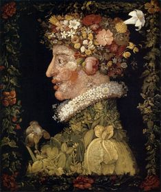 Floral whimsy through the ages, from Italian renaissance painter Guiseppe Arcimboldo