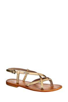 Sandales en cuir or Hiboux Les Tropéziennes par M Belarbi sur MonShowroom.com