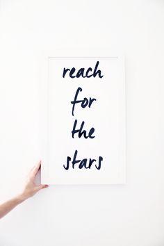 "We love the inspiring message of ""Reach for the Stars"" in our Irvine frame style! #framebridge"
