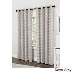 Baroque Grommet Top 84-inch Curtain Panel Pair | Overstock.com Shopping - Great Deals on NONE Curtains