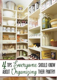 Is your messy and unorganized pantry making you crazy? Here are 4 tips to help you create the pantry of your dreams.