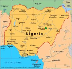 map of nigeria showing 36 states and capital - Google Search   MAPS ...
