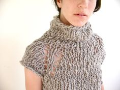 Knitting Pattern PDF Handspun Tunic Sweater. $5.00, via Etsy.
