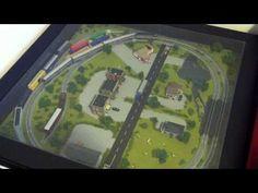N Scale Train Set In Ikea Coffee Table - YouTube