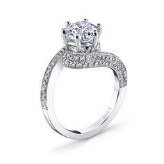 Style No: 18RO2319DCZ #WeddingRings #EngagementRings #DiamondRings #VannaK #VannaKJewelry #VannaKDesigns