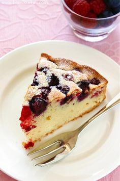 Szybkie ciasto z owocami, bez mleka. | Bea w Kuchni