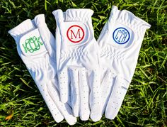 Monogrammed Golf Gloves - FREE SHIPPING! : 2PreppyGirls.com, Personalized Gifts