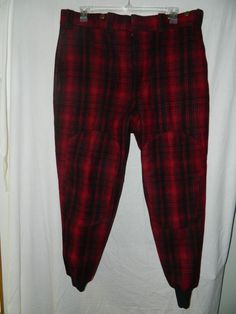 Men's L.L. Bean Thick Wool Blend Plaid Hunting Pants Size 42 - INV#0041 #LLBean #Hunting