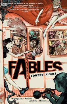 Fables Vol. 1: Legends in Exile by Bill Willingham, http://www.amazon.com/dp/B0064W667Y/ref=cm_sw_r_pi_dp_eFm9rb1CBJCX9