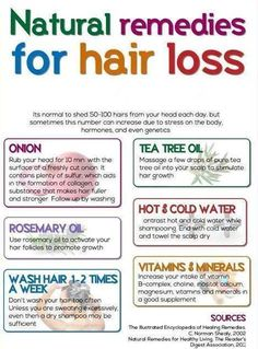 Natural Remedies for Hair Loss - Having problems with hair loss? Then natural solutions are the best.. Try some of these!