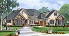 Elegant 3-Bed Ranch Home Plan with Bonus Over Garage - 15030NC thumb - 04