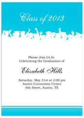 Elementary 5th grade graduation announcement sample 2013 formal blue white graduation invitation example stopboris Choice Image