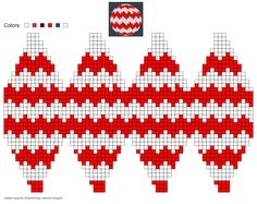 created using Schachenmayr Designer by Pawel Dolatowski Knit Christmas Ornaments, Christmas Tree Pattern, Christmas Toys, Christmas Knitting, Handmade Christmas, Plastic Canvas Ornaments, Plastic Canvas Christmas, Plastic Canvas Patterns, Homemade Christmas Decorations