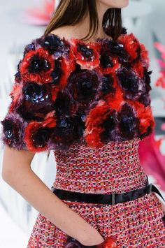 floral applique#Chanel Haute Couture 2015