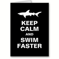 Funny Swimmer or Surfer Keep Calm Shark Attack