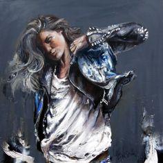 CECILE DESSERLE Titre Inside suffering Format 80 x 80 cm Huile sur toile | Cécile Desserle - Site Officiel