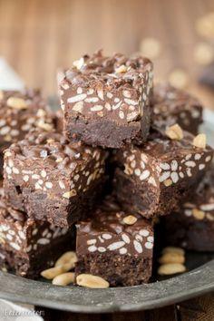 Peanut Butter Crunch Brownies (Gluten Free) - Bakerita