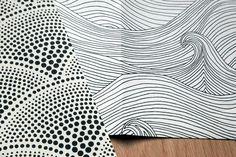 Polka dots and waves