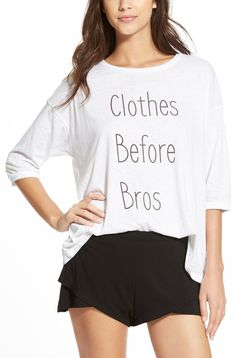 This loose dropped shoulder tee tells all.