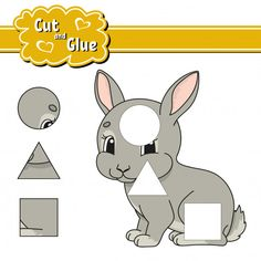 Cut and glue education developing worksheet vector You are in the right place about Glue uhu Here we offer you the most beautiful pictures about the hot Glue you are looking for. When you examine the Shapes Worksheets, Free Printable Worksheets, Worksheets For Kids, Character Activities, Color Activities, Baby Massage, Educational Activities, Preschool Activities, Cartoon Present