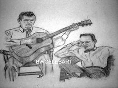 THE ANDY GRIFFITH SHOW PENCIL DRAWING SHERIFF ANDY TAYLOR BARNEY FIFE  DON KNOTS #Realism