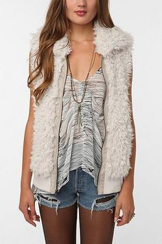 Urban Outfitters fur vest, totally on my wish list!
