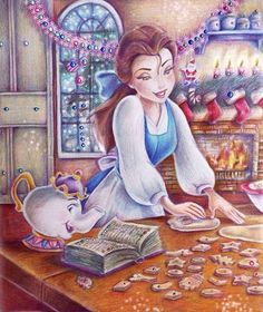 "Belle and Mrs. Potts, Beauty and the Beast ""Belle (Christmas Cookie)"" by Alena-Koshkar.deviantart.com on @DeviantArt"