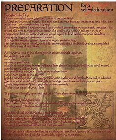 description of magikal activity shamanic/witchcraft type  preparatory work prior to a self-dedication opening and closing a space, conjuring mist and divination are all described in more detail elsewhere - Pinned by The Mystic's Emporium on Etsy