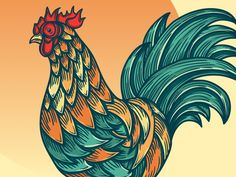 Rooster designed by Brad Hansen. the global community for designers and creative professionals. King Card, Rooster, Creative, Chicken
