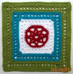 """Moogly 2014 Afghan CAL - """"Manny Ann's Square"""" by Kimberly Biberstein ******BLOCK #21******"""
