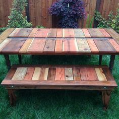 Reclaimed Wood Flat-pack Picnic Table With Planter/ice Trough