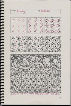 I came up with this pattern some time ago, but several people have asked about it lately, so I decided to redraw it in Geneviève Crabe's Tangle Organizer and repost it.  For more information, please check out my Review of Geneviève Crabe Tangle Organizer and Tangle Journal.