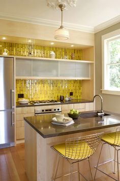 Heath Ceramics tile.- love this mustard yellow!!