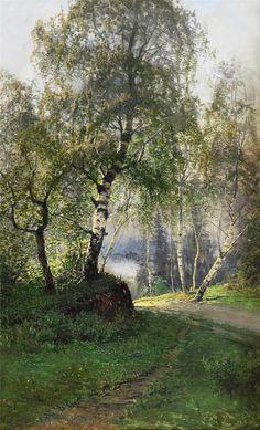 by Swedish landscape artist Johan Kindborg  (1861-1907)