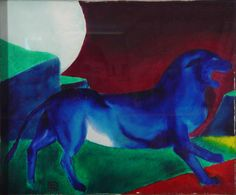 Pantera Azul (Xaime Quesada Blanco, 1993) 1975, Painting, Blue Nails, White People, Art, Painting Art, Paintings, Painted Canvas, Drawings