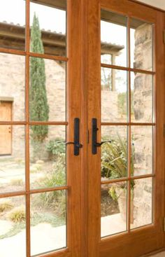 Full glass double door. french doors with clear glass. Mahogany ...