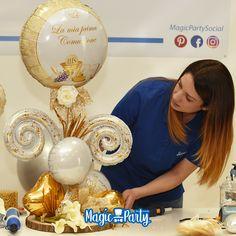 Balloon Centerpieces Wedding, Balloon Table Decorations, Balloon Arrangements, Wedding Balloons, Baby Shower Centerpieces, Decoration Table, Graduation Centerpiece, Centerpiece Ideas, Love Balloon
