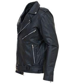 Men Black Leather Biker Jacket   Leather Jacket US http://leatherjacketus.com/product/men-black-leather-biker-jacket/