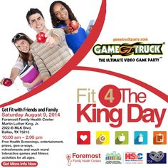 Make plans today to attend Fit 4 The King Day on August 9th! Please visit http://www.foremostfhc.org/english/subpages/events_f4tk.php