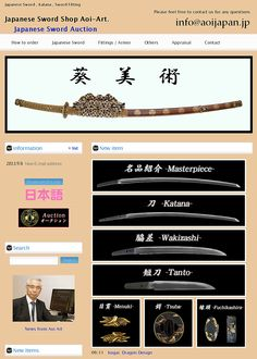 "Japanese swords and fittings, Japan based. ""Aoi Japanese sword shop"". http://www.aoijapan.com/"