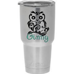 Owl Personalized Yeti Tumbler Cup Decal by ExpresYourselfDecal