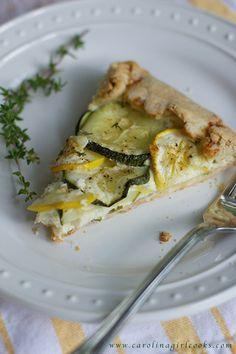 Squash and Zucchini Galette Pinned Via: Carolina Girl Cooks http://www.carolinagirlcooks.com/szg/