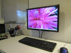 Little Brick Ranch: Mounting Your Computer Monitor To the Wall