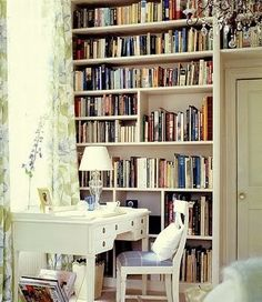 wall of books, just so pretty